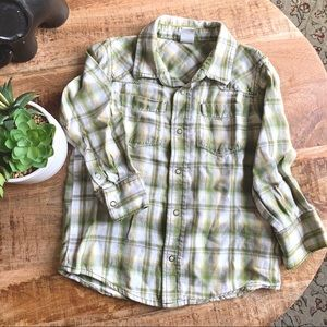 OLD NAVY Flying Tiger Plaid Button Down Shirt